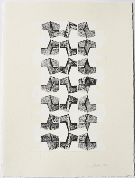 Betwixt and Between No 5, 2016, Ink and pencil on paper, 38 x 28,5 cm