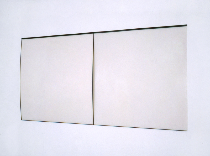 Untitled, 1991, Paint behind polystyrene, plastic strip, 101 x 200,6 cm